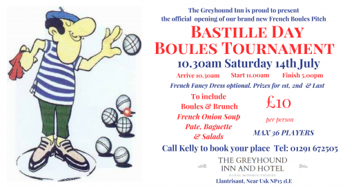 Boules Launch Event at The Greyhound Facebook Even