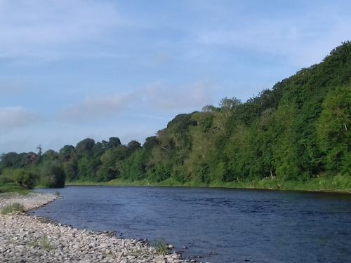 The River Tweed below Coldstream Bridge Scottish Borders