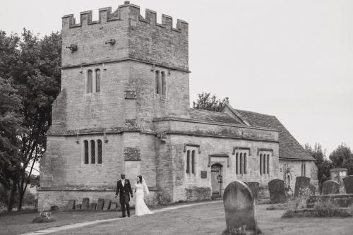Church outside Couple photo