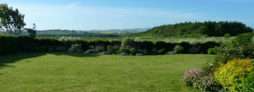 The Garden facing south overlooking the Cheviot Hills, Northumbe
