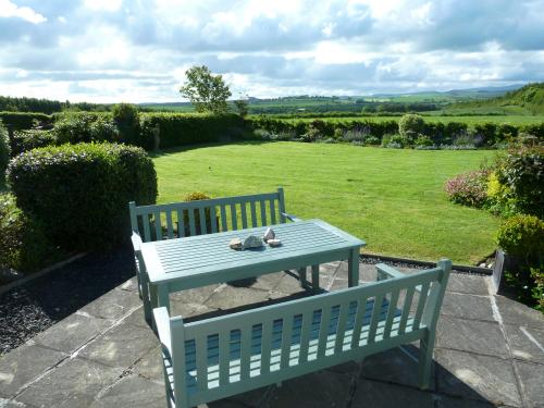 Babingtons Cottage Garden facing south overlooking the Cheviot H