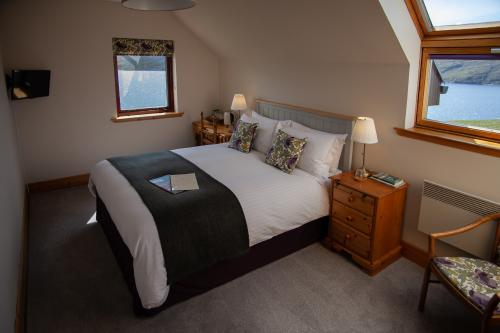 Room 1. A double en-suite room with Loch view - one night surcharge.