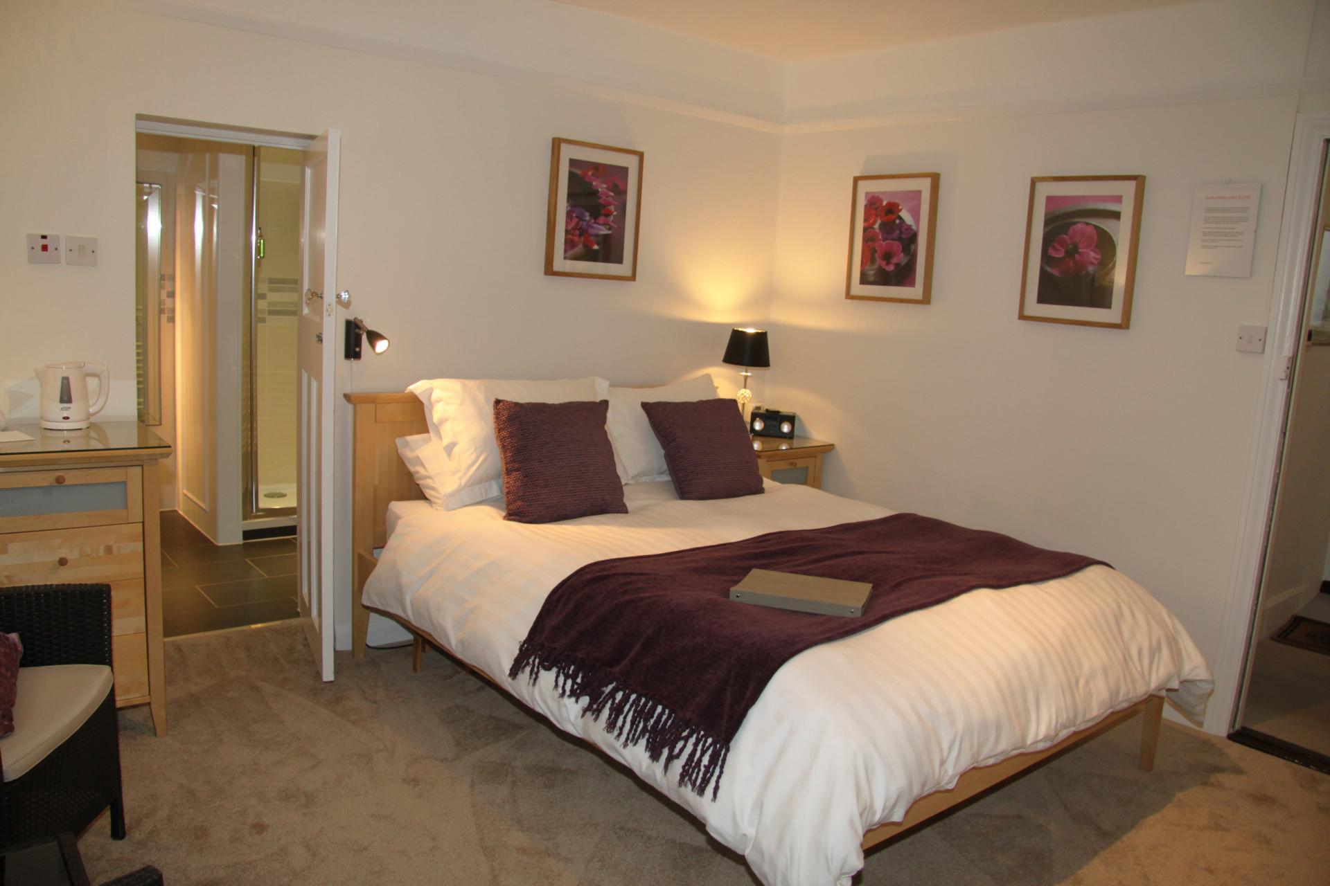 Double room with En suite shower room - Breakfast included
