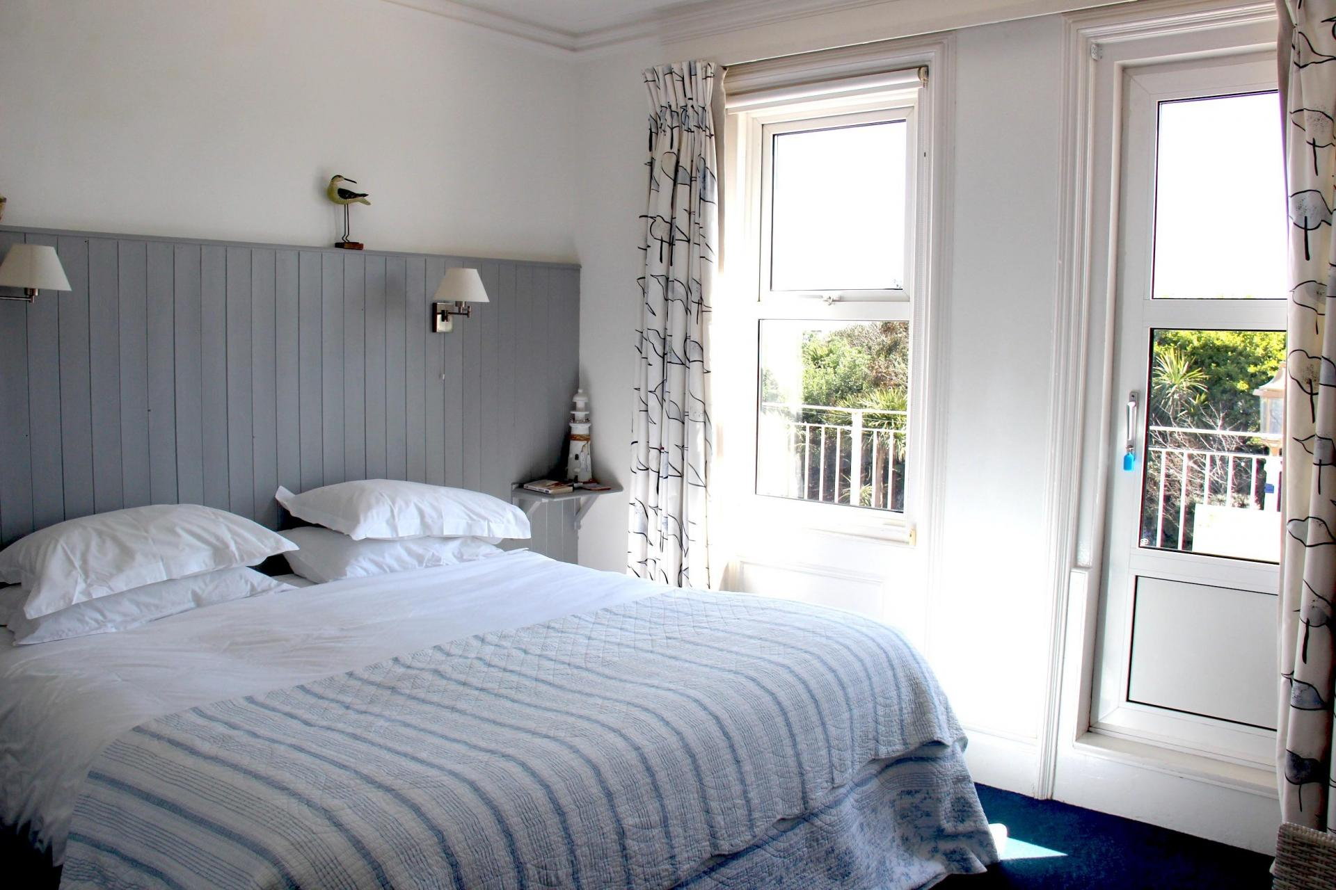 Deluxe Double Or Twin Room With Balcony and Sea View, first floor (inc. Cooked Breakfast and Buffet