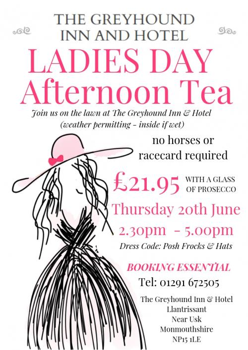 The Greyhound Ladies Day Afternoon Tea Poster 2019