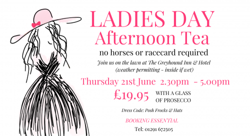 The Greyhound Ladies Day Afternoon Tea Poster FB E