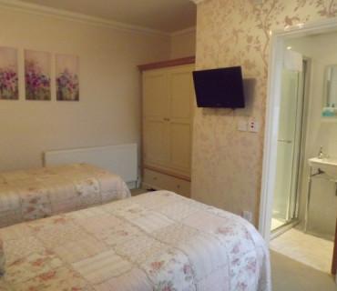RM7 Twin Room en suite shower (ground floor) breakfast included