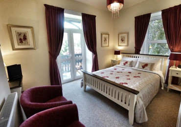 Room 2 - Double room, king-size bed and balcony overlooking the Gwydyr Forest (breakfast included).
