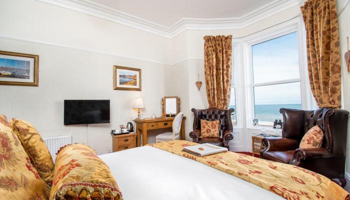 Room 2 - Superior Sea View Double En-suite room with Bay Window (Including Breakfast)