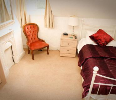 Ground Floor Single En-Suite Room.